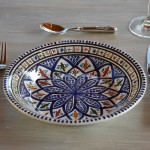 Assiette creuse Bakir bleu - D 24 cm