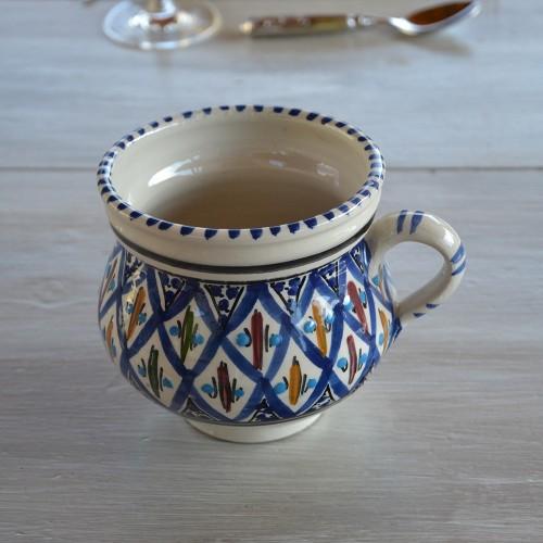 Cruche traditionnelle Bakir bleu - D 12 cm