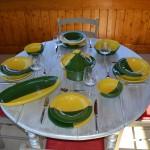 Bol Kerouan jaune et vert - D 18 cm