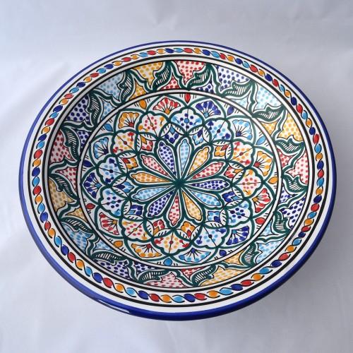Plat rond Saminjah - Pièce unique - D 37 cm