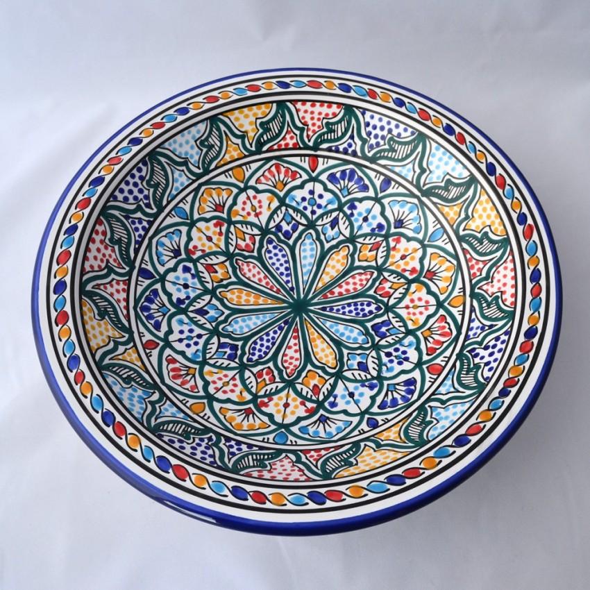 Plat rond Saminjah - Pièce unique - Diam 37 cm