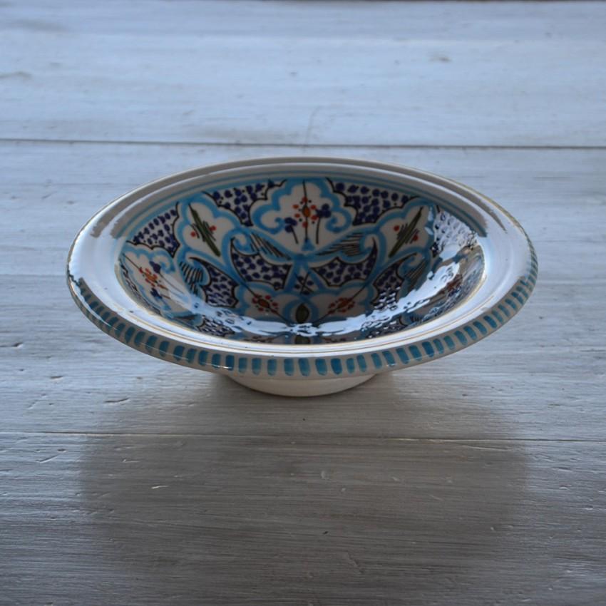 Assiette Tebsi Marocain turquoise - D 23 cm