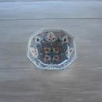 Plat octogonal Marocain turquoise - L 16 cm