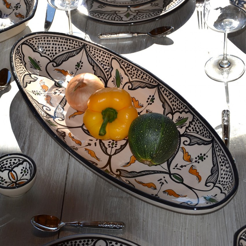 Plat ovale Marocain noir - L 50 cm