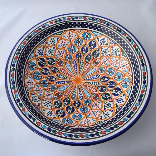 Plat rond Djafar - Pièce unique - D 37 cm