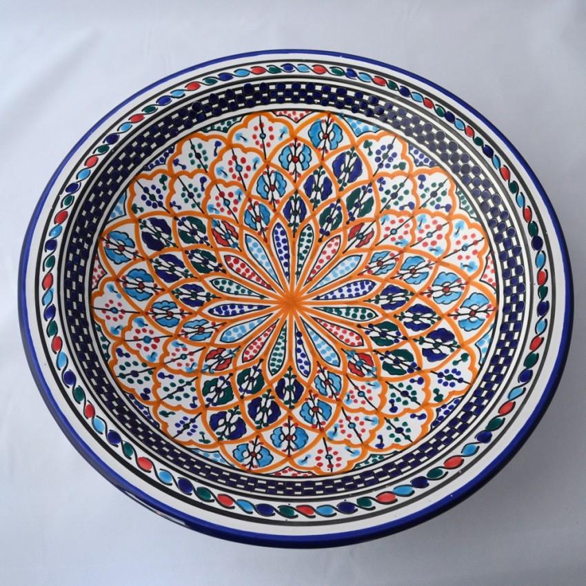 Plat rond Djafar - Pièce unique - Diam 37 cm