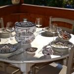 Assiette creuse Marocain noir - D 24 cm