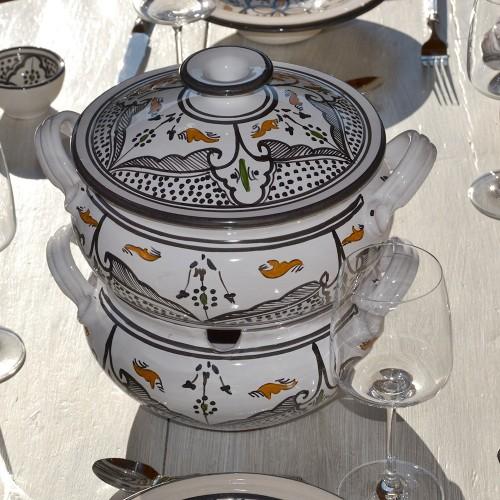 Couscoussier Marocain noir - Grand modèle