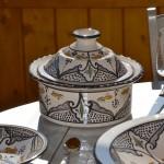 Service à couscous assiettes creuses Marocain noir - 6 pers