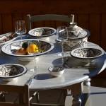 Service à couscous assiettes Tebsi Marocain noir - 6 pers