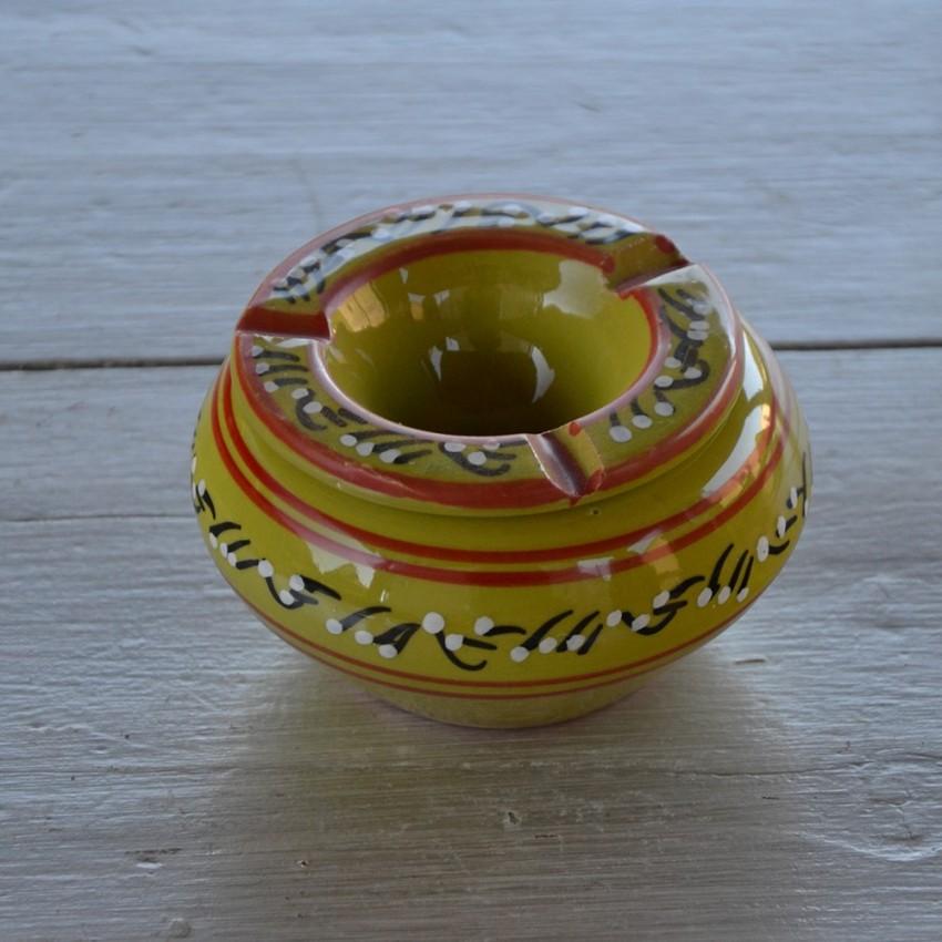 Cendrier tunisien Tatoué vert pistache - Moyen modèle