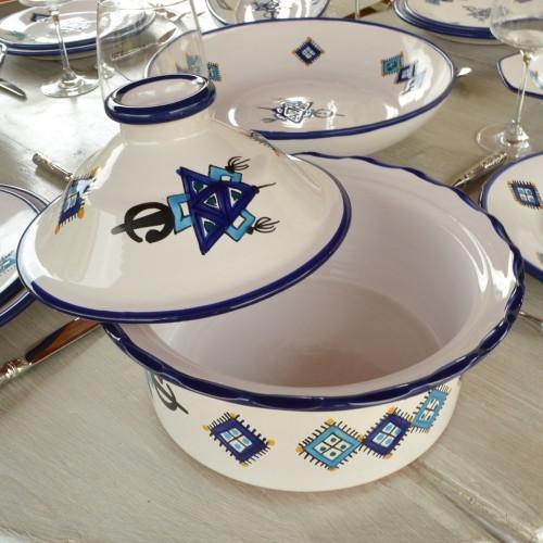 Cocotte Querouana Sahel bleu - D 20 cm