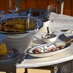 Plat ovale Marocain noir - L 24 cm