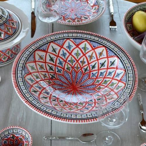 Plat Tebsi Bakir rouge - D 27 cm