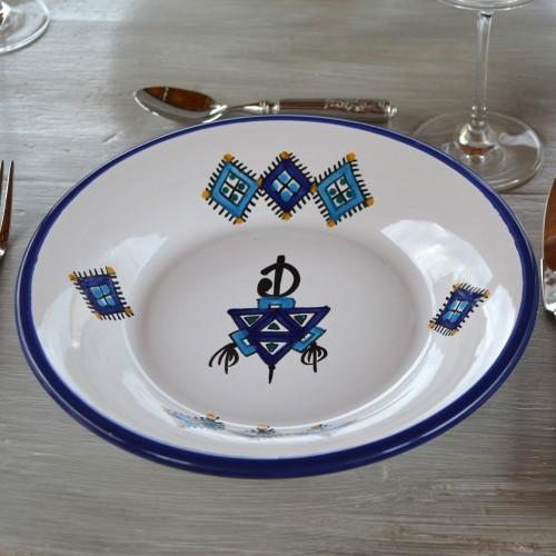 Assiette creuse Sahel bleu - D 24 cm