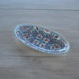 Plat ovale Marocain turquoise - L 20 cm