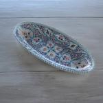 Plat ovale Marocain turquoise - L 24 cm