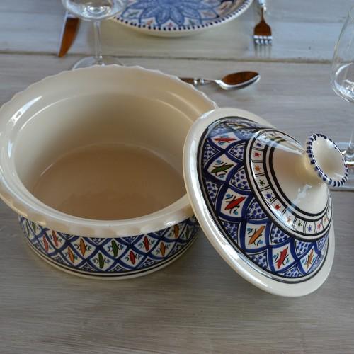 Cocotte Querouana Bakir bleu - D 20 cm