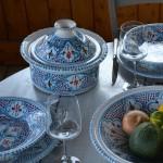 Cocotte Querouana Marocain turquoise - D 25 cm