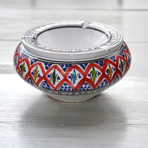 Cendrier marocain Bakir rouge - Grand modèle