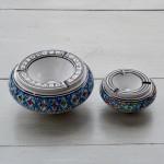 Cendrier anti fumée Bakir turquoise - D 20 cm