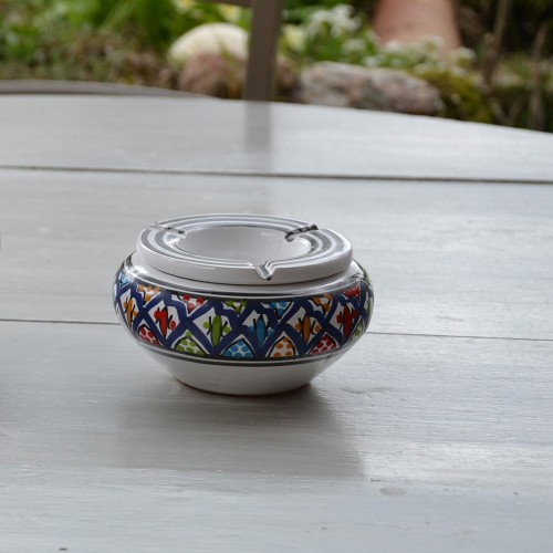 Cendrier marocain Bakir bleu - Moyen modèle