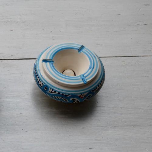 Cendrier anti fumée Marocain turquoise - Moyen modèle