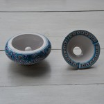 Cendrier Moyen modèle anti fumée Marocain turquoise - D 12 cm