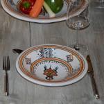 Assiette Tebsi Sahel beige - D 23 cm