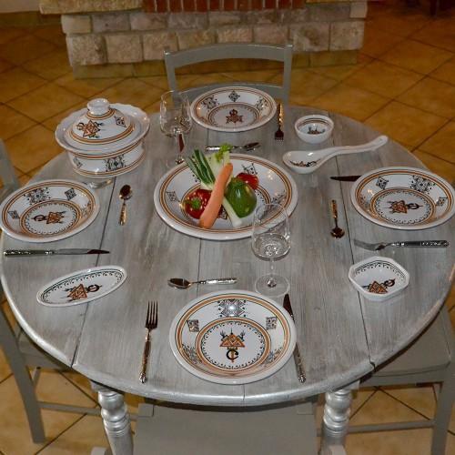 Service à couscous assiettes creuses Sahel beige - 6 pers