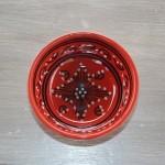 Bol Tatoué rouge - D 10 cm