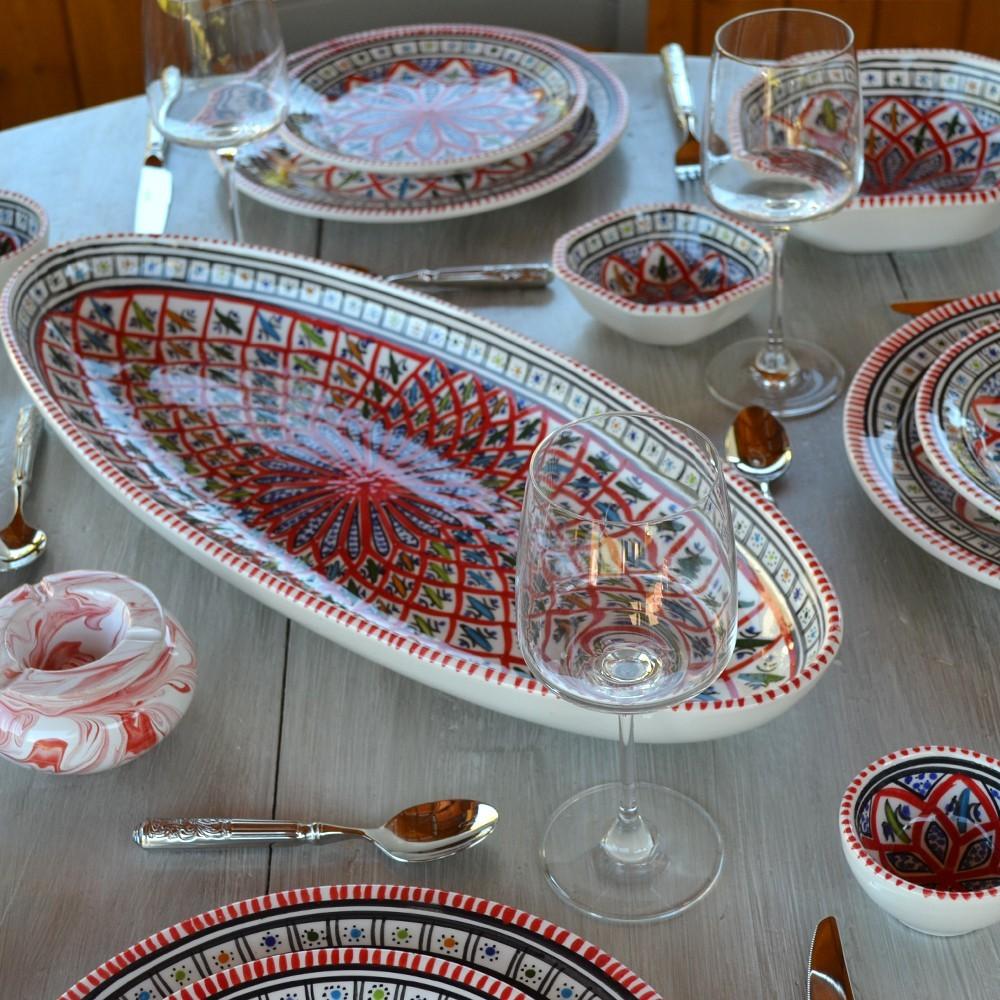 service de table avec bol bakir rouge 6 pers. Black Bedroom Furniture Sets. Home Design Ideas