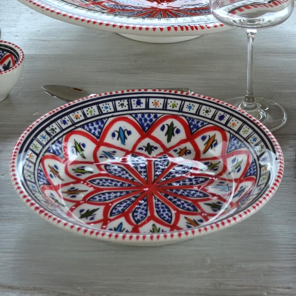 Service de table bakir rouge 6 pers for Service de table rouge