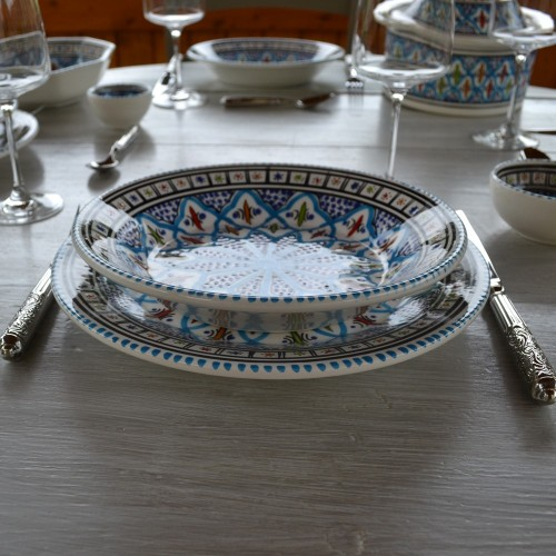 Service de table complet Bakir turquoise - 6 pers