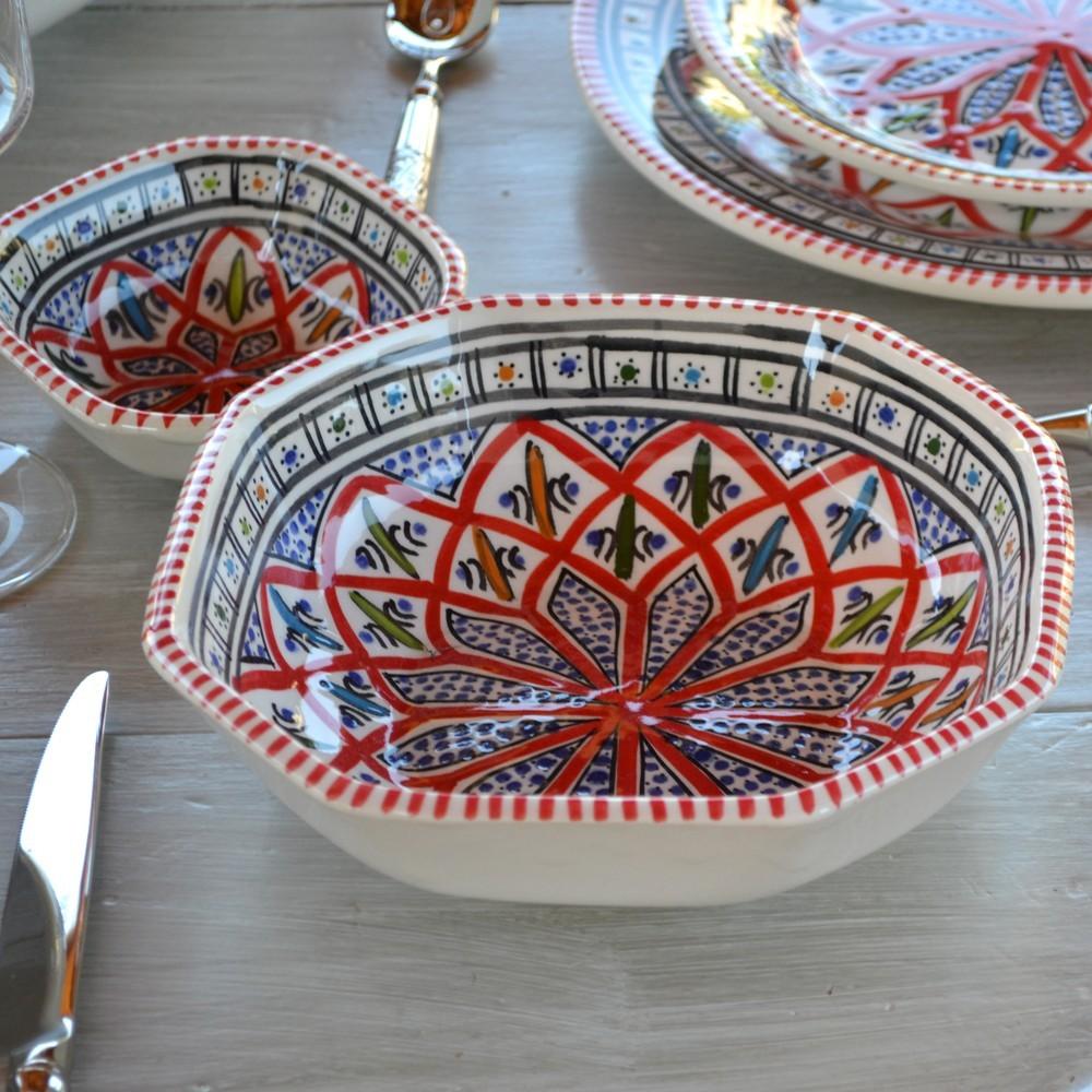 service de table avec bols bakir rouge 12 pers. Black Bedroom Furniture Sets. Home Design Ideas