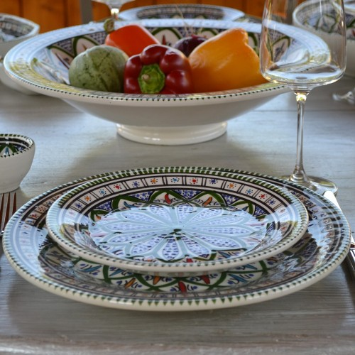 Service de table Bakir vert - 12 pers