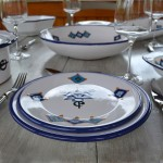 Service de table Sahel bleu - 8 pers