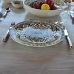 Lot de 6 assiettes plates Bakir vert - D 28 cm