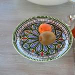 Lot de 6 assiettes à entrée ou dessert Bakir vert - D 20 cm