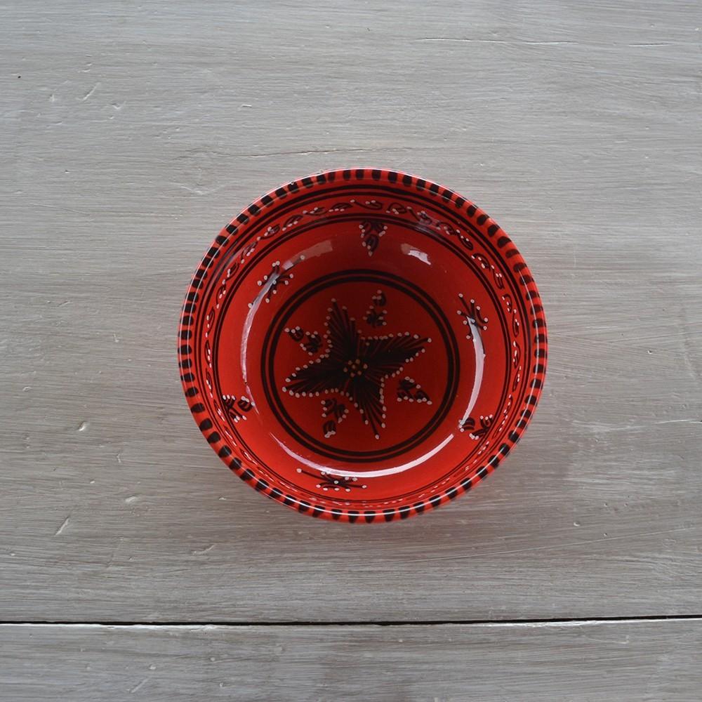 Service de table tatou rouge 6 pers for Service de table rouge