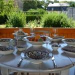 Service à couscous assiettes Tebsis Bakir vert - 12 pers