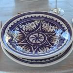 Service à couscous assiettes creuses Nejma bleu - 12 pers