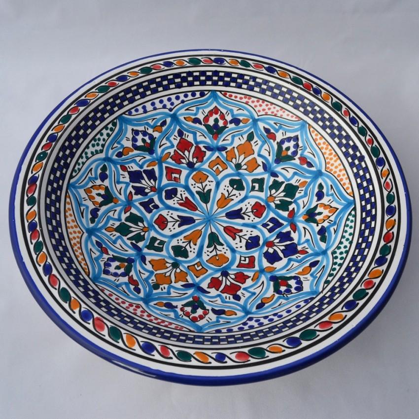 Plat rond Casablanca - Pièce unique - Diam 31 cm