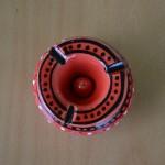 Cendrier anti fumée rouge - Mini modèle