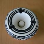 Cendrier moyen modèle anti fumée Jileni gris - D 12 cm