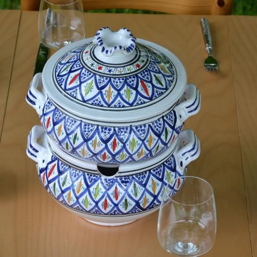 Couscoussier Jileni bleu - Grand modèle