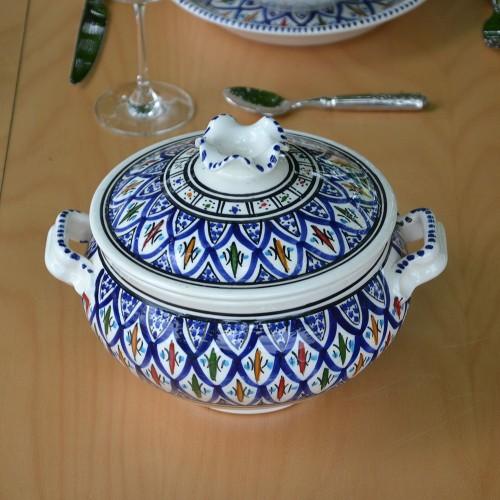 Soupière Jileni bleu