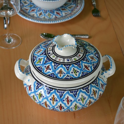 Soupière Jileni turquoise