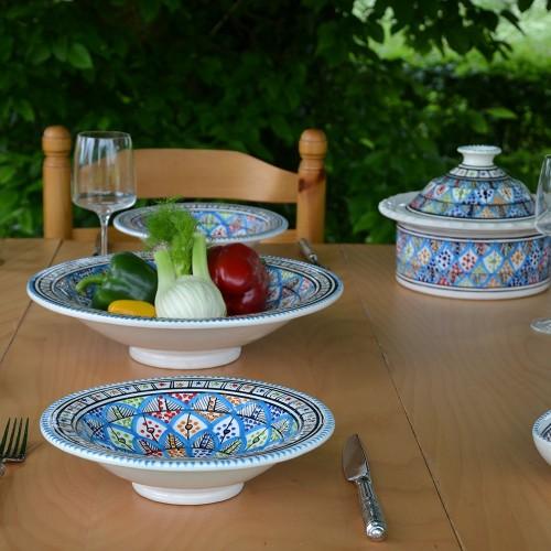 Service à couscous assiettes Tebsi Jileni Royal - 6 pers