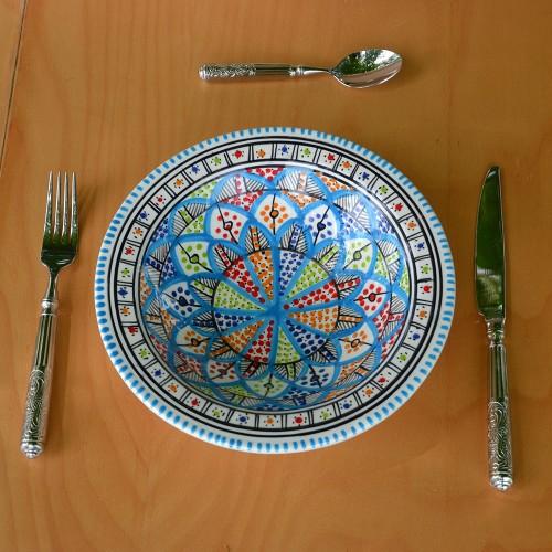 6 assiettes Tebsi Jileni Royal - D 23 cm